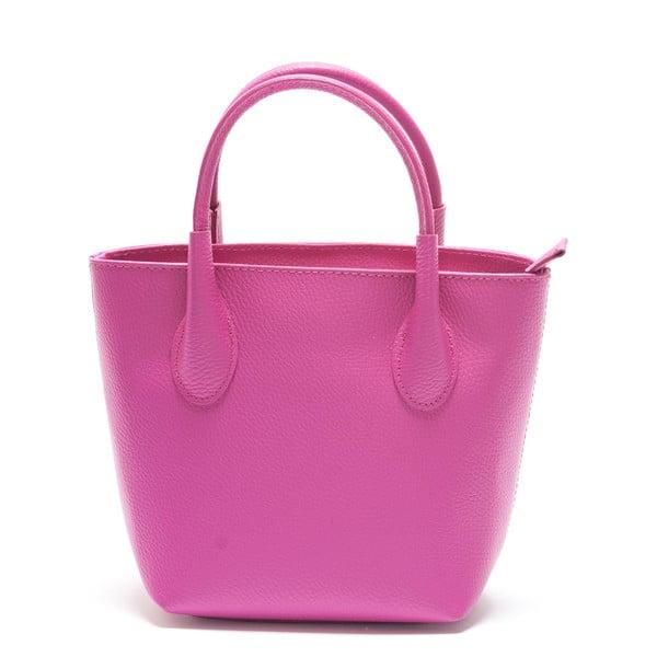 Růžová kožená kabelka Mangotti Axillaris