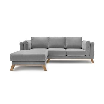 Canapea cu șezlong pe partea stângă Bobochic Paris Seattle, gri