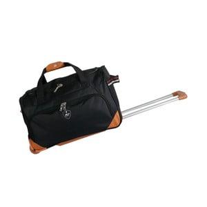 Černá cestovní taška na kolečkách GENTLEMAN FARMER Sporty, 45 l