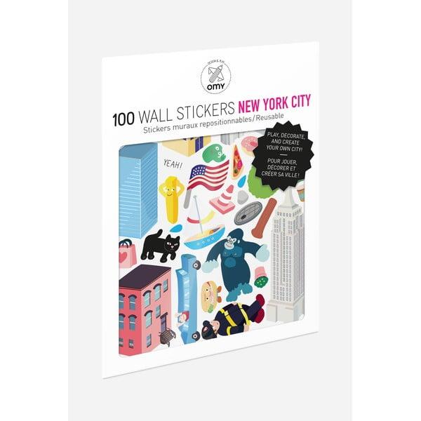 Sada samolepek OMY New York, 100 ks