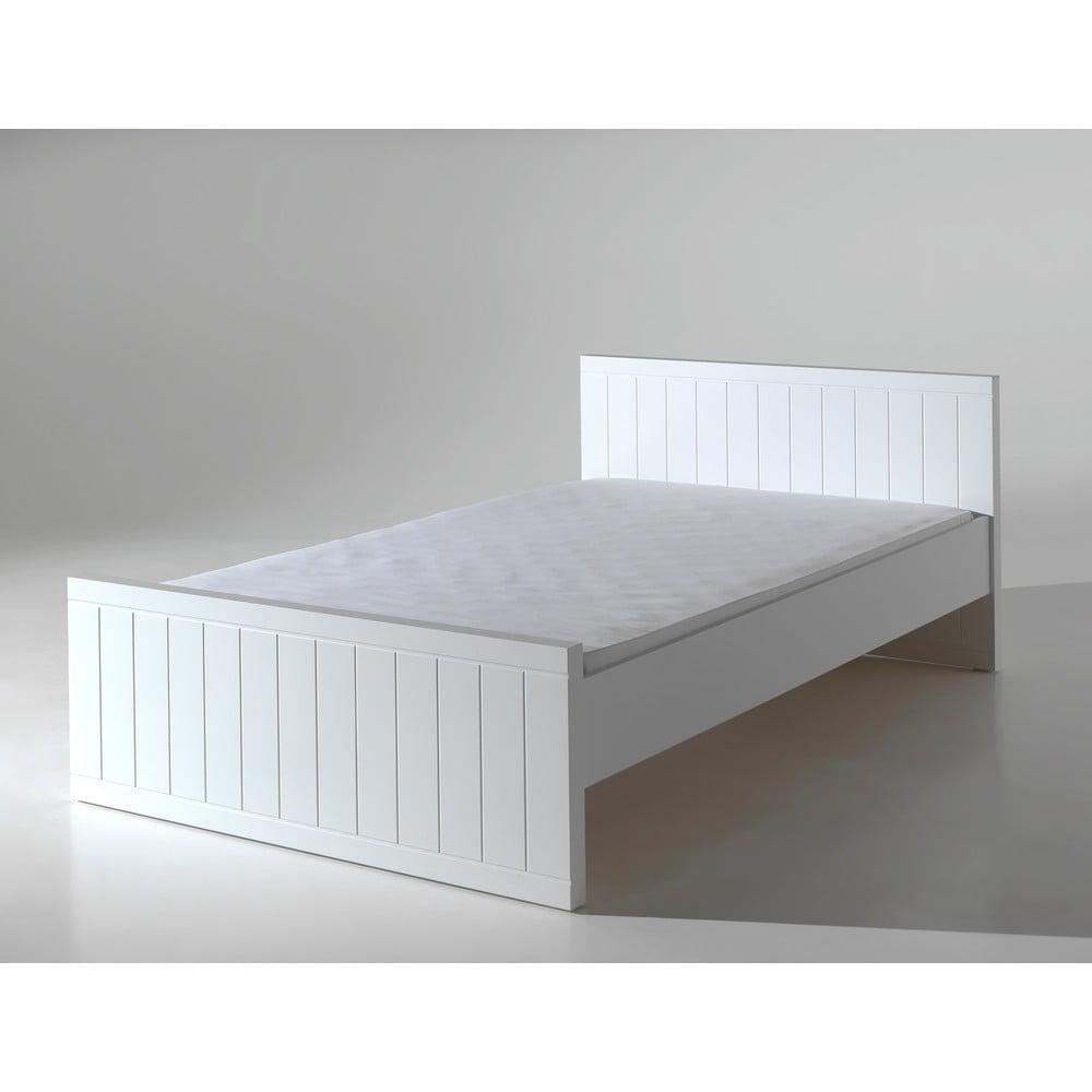 Bílá postel Vipack Robin, 120 x 200 cm