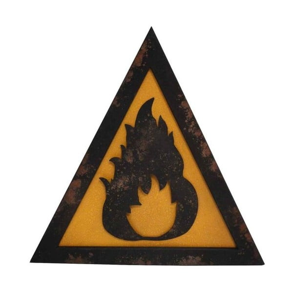 Plăcuță metalică pentru perete Antic Line Fire