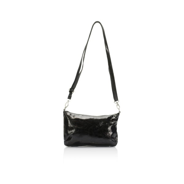 Černá kožená kabelka Lisa Minardi Lola