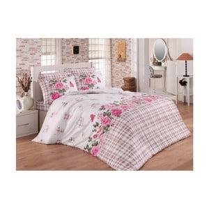 Lenjerie de pat cu cearșaf din bumbac Colins, 200 x 220 cm