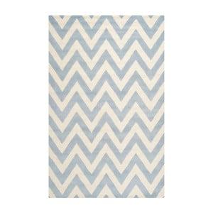 Světle modrý vlněný koberec Safavieh Stella, 182x274cm