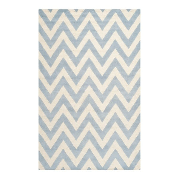 Stella Light Blue gyapjúszőnyeg, 182 x 274 cm - Safavieh