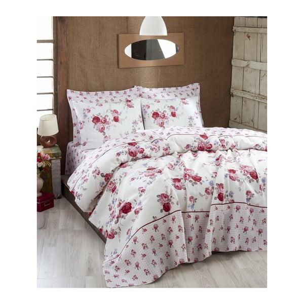 Růžový lehký přehoz přes postel Rosalinda, 200x235cm