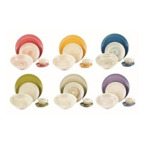 Sada porcelánových talířů Dune, 18 ks