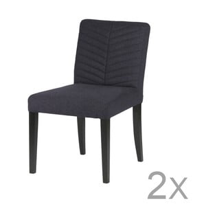 Sada 2 tmavě modrých židlí De Eekhoorn Nora