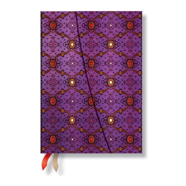 Diář na rok 2014 - French Ornate Violet 13x18 cm, verso výpis dnů