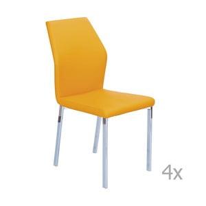Set 4 scaune 13Casa Valencia, portocaliu