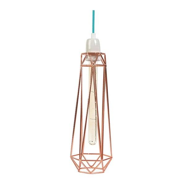 Světlo s bronzovým stínítkem a modrým kabelem Filament Style Diamond #2