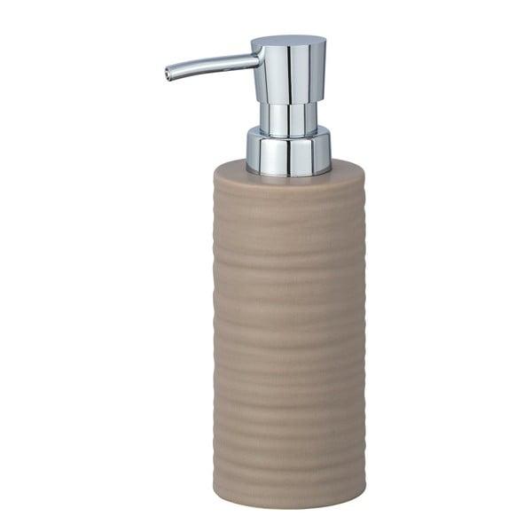 Pískově hnědý keramický dávkovač mýdla Wenko Mila,260ml