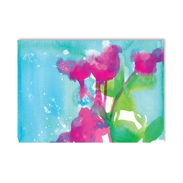 Plakát Pink Flowers, 30x42 cm