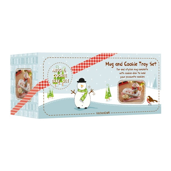 Set hrnku a tácku Merry Little Christmas