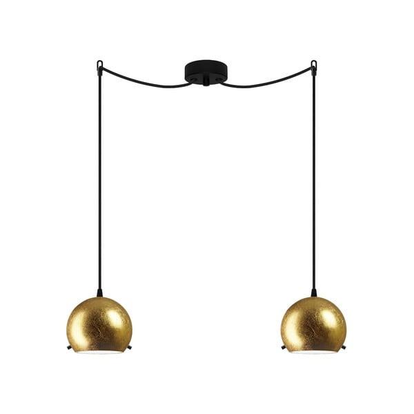 Dvojité světlo MYOO Elementary, gold/black/black