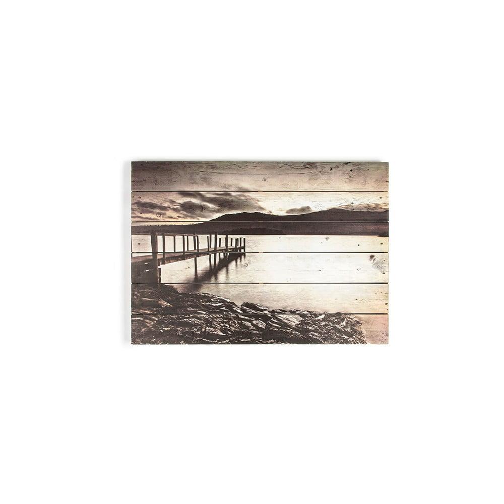 Dřevěný obraz Graham & Brown Tranquil Jetty,70x50cm