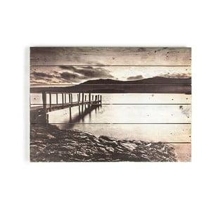 Tablou din lemn Graham & Brown Tranquil Jetty, 70 x 50 cm
