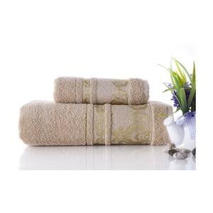 Set dvou ručníků Antik Gold Beige, 70x140 a 50x90 cm