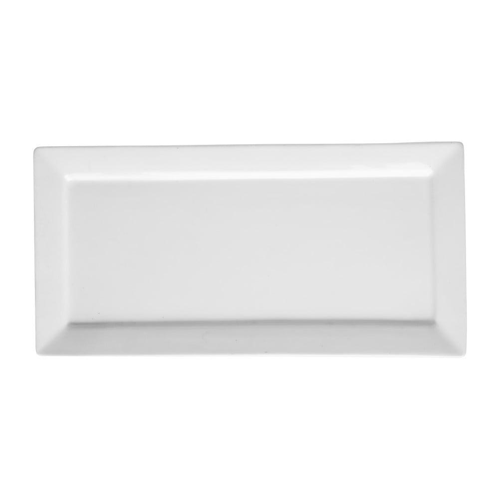 Bílý porcelánový talíř Price&Kensington Simplicity, 36 x 17,5 cm