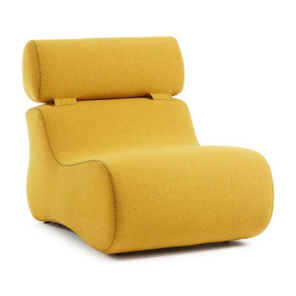 Żółty fotel La Forma Club