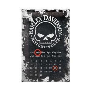 Plechový kalendář Harley Davidson Motorcycles, 20x30 cm