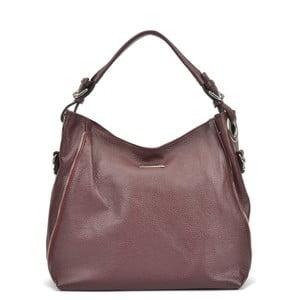 Vínově červená kožená kabelka Mangotti Cassie