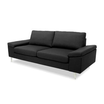 Canapea cu 3 locuri Vivonita Nathan gri antracit