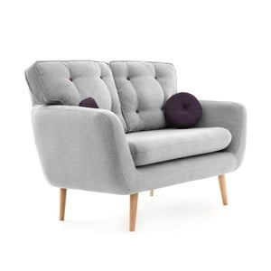 Canapea cu 2 locuri Vivonia Malva, gri - violet