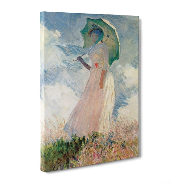 Obraz Woman with a Parasol - Claude Monet, 50x70 cm