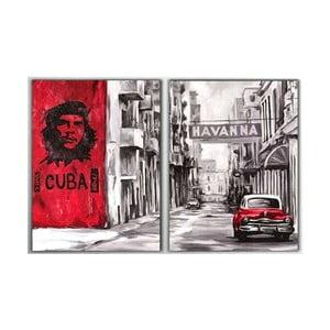 2dílný obraz Cuba, 40x60 cm