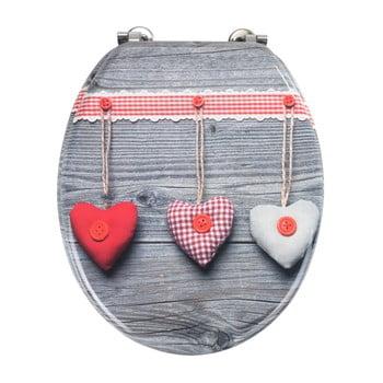 Capac WC Wenko Bavarian Hearts, 43 x 37 cm imagine