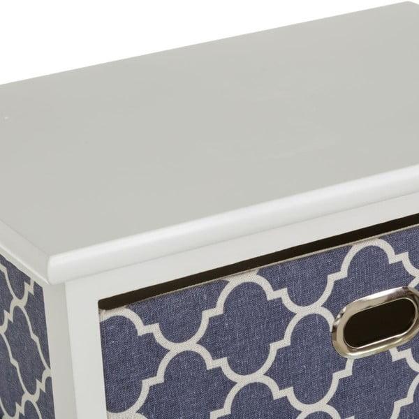 Poliță cu 4 sertare Unimasa Paulonia, 40 x 73 cm, albastru