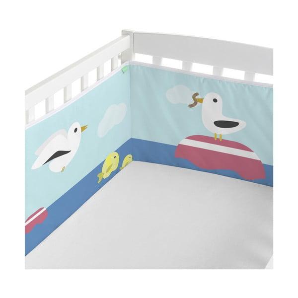 Textilní ohrádka do postýlky Happynois Yellow Submarine, 210 x 40cm