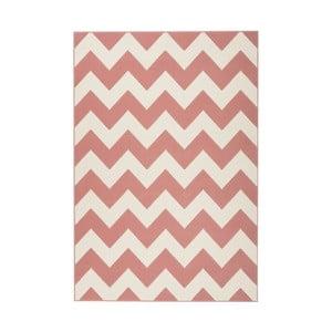Růžovo-bílý koberec Kayoom Maroc, 80 x 150 cm