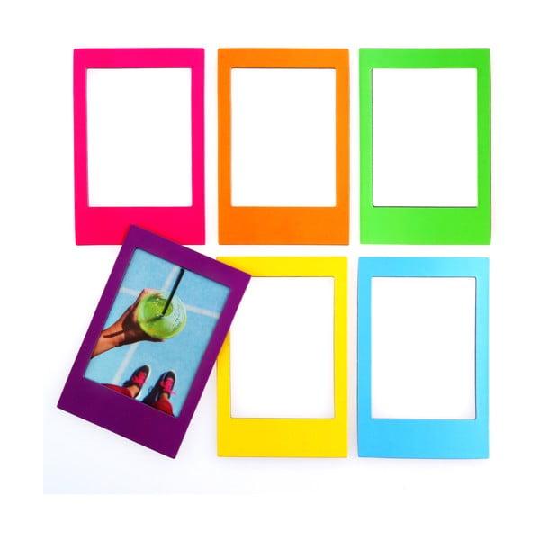 Sada 6 magnetických rámečků na fotografie Just Mustard Rainbow