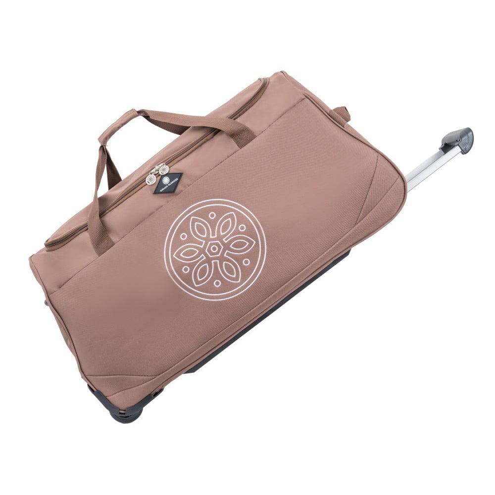 Růžová cestovní taška na kolečkách GERARD PASQUIER Miretto, 91 l
