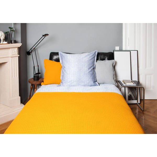Žlutý bavlněný přehoz Casa Di Bassi, 150x200cm