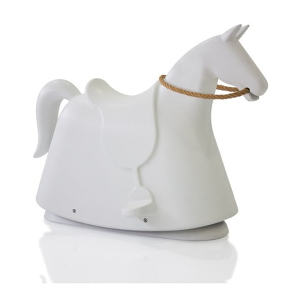Biela detská stolička v tvare koňa Magis Rocky, výška 71,5 cm