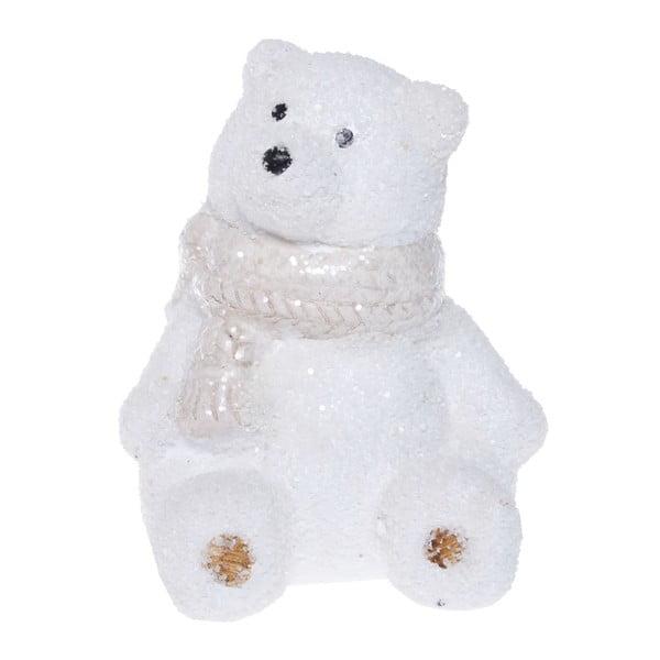 Bílá keramická dekorativní soška Ewax Polar Bear, výška10cm