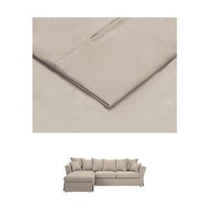 Béžový povlak na trojmístnou pohovku THE CLASSIC LIVING Helene, levýroh