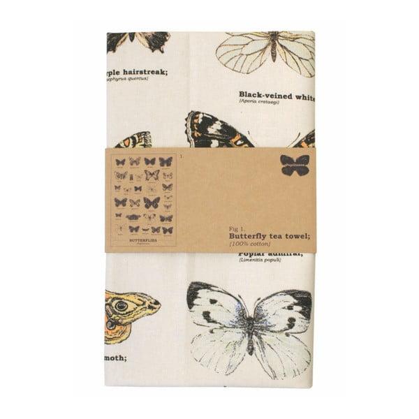 Utěrka z bavlny Gift Republic Multi Butterflies