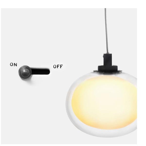 Stropní světlo Happy Pill Black/White, 12 cm