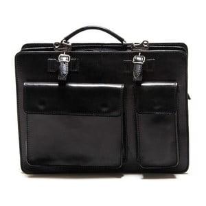 Černá kožená taška Renata Corsi Linto