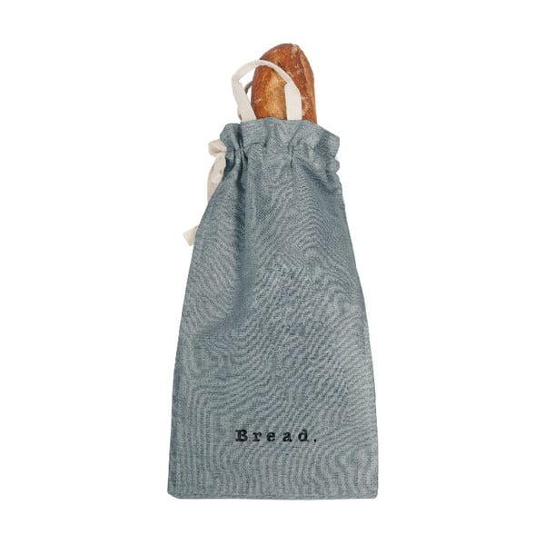Látkový vak na chlieb s prímesou ľanu Linen Couture Bag Blue Sky, výška 42 cm
