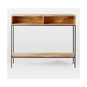Konzolový stolek z masivního mangového dřeva Massive Home Jenny, 100 x 76 cm