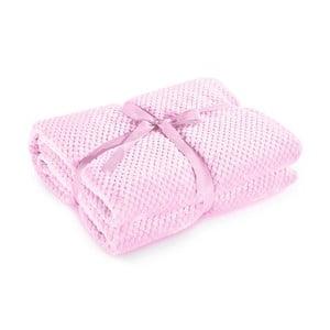 Pătură din microfibră DecoKing Henry, 70 x 150 cm, roz pudră