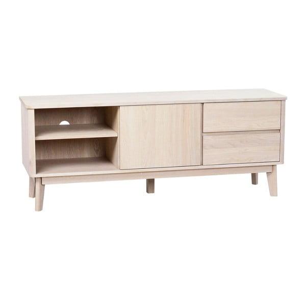 Televízny stolík z bieleného dubového dreva Rowico Yumi