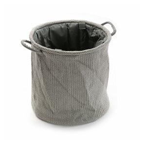 Šedý úložný košík Versa Knitted, 36x38cm