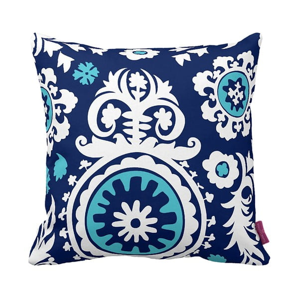 Polštář Floral Blue, 43x43 cm